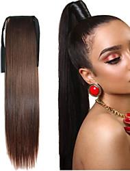 cheveux synthétiques milieu longue queue de cheval wowen cheveux raides ruban de queue de cheval postiche l'extension des morceaux de