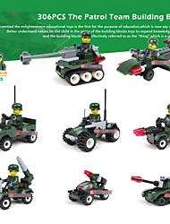 8piece / lot blocs de construction des modèles militaires&modèle de style de réservoir de bande dessinée construction jouet cadeau