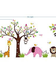 Animals Paradise Wall Art Mural Poster Children'S Park Kindergarten Wall Decoration Decal Sticker Kids Room Decor