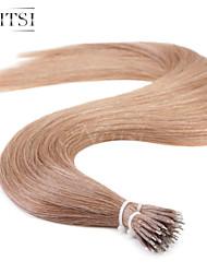 """neitsi® 20 """"1 g / s nano Ringschleife gerades Haar 100% Echthaar Haarverlängerungen 10 # include Haar-Tools"""