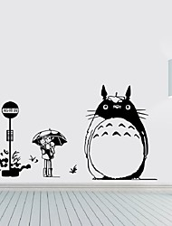 Wall Decal Japanese Cartoon Movie My Neighbor Totoro Wall Stickers Home Decoration Wall Decor Kids Room Nursery Decals
