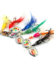 4.5g Metal Lure Spinner Bait (6Pcs/Packed)