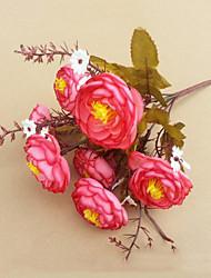 7 qualité comellia fleurs fleurs de soie fleurs artificielles headshigh pour le mariage décoration de la maison 1pc / set
