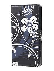 Pour Coque Nokia Portefeuille / Porte Carte / Avec Support Coque Coque Intégrale Coque Fleur Dur Cuir PU Nokia Lumia 650