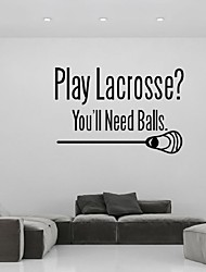 Play Lacrosse And The Ball Pattern Vinyl Wall Decal Wall Lettering Art Words Wall Sticker Home Decor Wedding Decoration