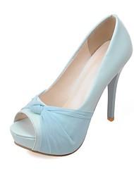 Chaussures Femme - Mariage / Bureau & Travail / Habillé / Soirée & Evénement - Bleu / Rose / Rouge / Blanc - Talon Aiguille - Talons -