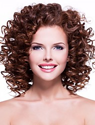 Hot Style Brown Color Synthetic Top Quality Curly Wigs