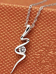 Korea 925 Sterling Silver Serpentine Pendant