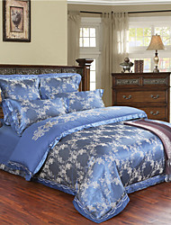 Panic Buying Blue Bedding Classical and Luxury Duvet Cover Set Unique Design Comforter Bedclothes Queen King