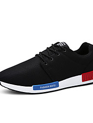 Men's Shoes Outdoor / Office & Career / Athletic / Casual Microfibre / Fabric Fashion Sneakers Black / Blue / Gray