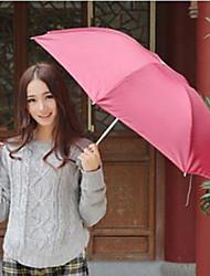 guarda-chuva de proteção de guarda-chuva dobrável uv de cor aleatória turismo