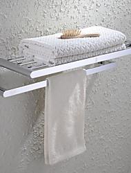 HPB®,Barre porte-serviette / Etagère de Salle de Bain Chrome Fixation Murale 60*23*13cm(23.6*9*5.1 inch) Laiton Contemporain