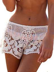 Mulheres Calças Sexy / Praia Shorts Rayon Micro-Elástica Mulheres