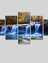 5 Piece Waterfall Modern Home Decor Canvas Art Pictures On The Wall Print Painting For Living Room Canvas Arts Unframed