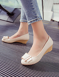 Women's Shoes Wedge Heel Round Toe Heels Casual Yellow / Pink / Beige