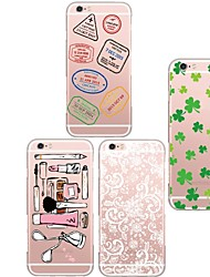 For iPhone 5 Case Transparent / Pattern Case Back Cover Case Tile Soft TPU iPhone SE/5s/5