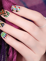 Charming Colorful Nail Art Decals Water Transfer Nail Art Stickers Tips Cartoon Decals Nail Art Wrap Decoration