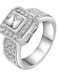 Statement Rings Crystal Simulated Diamond Alloy Fashion Jewelry Wedding Party 1pc