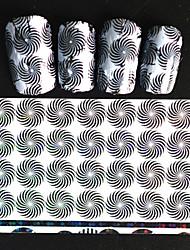 5pcs 20*4cm 2016 New Japanese White  Series Nail Art Whirl Shape Design Transfer Foils DIY Nail Sticker STZ Jw2