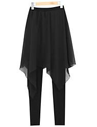 De las mujeres Pantalones Ajustado / Harén-Tallas Grandes / Chic de Calle Elástico-Poliéster / Licra