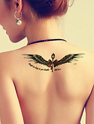 Bow Angel Wings Arm Waterproof Temporary Tattoos Stickers Non Toxic Glitter