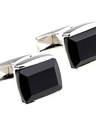 Black Glass Cufflinks French Men's Shirt Business Sleeve Nail For Groom
