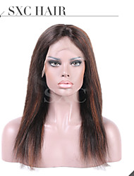 Fashion Straight Mixed Color Brazilian Virgin Glueless Full Lace Wigs Silk Base Lace Front Wigs