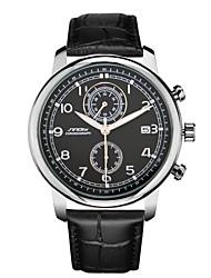 Men's Watch Multi-function Famous Brand Pilot Watches Movement Leather Strap Sports Quartz Chronograph Wristwatch