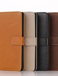 modèle en cuir véritable de haute qualité étui portefeuille pour sony xperia z1 / z3 / z4 / m2 / m4 / t3 / c4 / e3 / e4 (couleurs