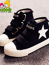 Girl's / Boy's Spring / Summer / Fall Comfort / Round Toe Canvas Outdoor / Casual / Athletic Flat Heel Magic Tape Black / Blue / White