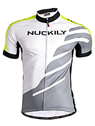 NUCKILY Bike/Cycling Jersey / Tops Men's Short SleeveBreathable / Moisture Permeability / Quick Dry / Front Zipper / Water Bottle Pocket