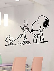 New Kitchen Vinyl Wall Stickers Home Decor Diy Art Mural Decals Removable Quote Cute Dog Wall Sticker For Decoration
