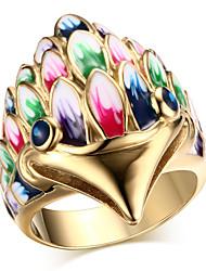 ms cor corujas anel de ouro 18 K