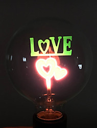 "YouOKLight® E27 3W ""LOVE"" Pattern Decorative NEON Globe Bulb Lamp Colorful Light 35lm (AC 220V)"