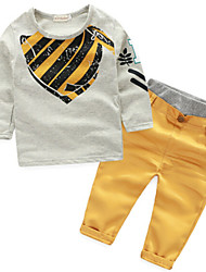 Boy's Cotton Clothing Set,Spring Print