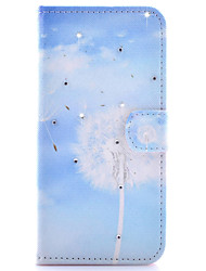 For Samsung Galaxy Case Card Holder / Rhinestone / with Stand / Flip / Pattern / Magnetic Case Full Body Case Dandelion PU Leather Samsung