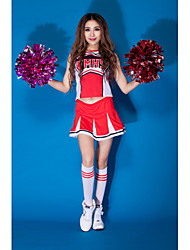 Tenue ( Rouge , Polyester , Costumes de Pom-Pom Girl ) Costumes de Pom-Pom Girl - pour Femme
