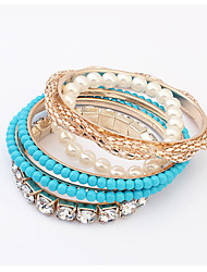 Cute / Casual Imitation Pearl / Acrylic Stacked / Stretch / Pearl Bracelet