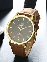 Masculino Relógio de Pulso Quartz Couro Banda Pendente Preta / Branco / Vermelho / Verde marca-
