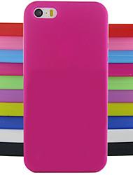 protection de la gelée de couleur unie silicone arrière modèle de conception de couverture de cas pour l'iPhone 5 / 5s (couleurs