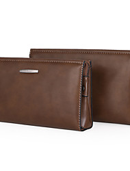 Men PU Casual Clutch Clutch / Wallet - Brown / Khaki