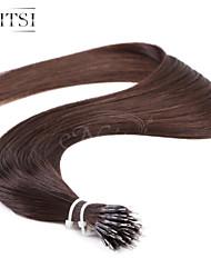 """neitsi® 20 bucle anillo nano pelo recto 100% extensiones """"1g / s del pelo humano del negro 2 # incluyen herramientas para el cabello"""