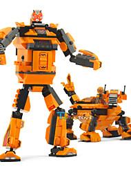 bloques de construcción de juguete robot transfor chicos animales 2 en 1 aprendizaje de inteligencia juguetes de simulación