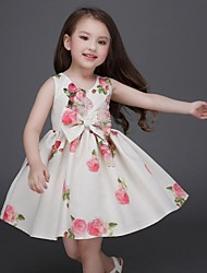 Girl's Multi-color Dress Rayon Summer / Fall / Spring