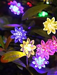 rei ro 40led feriado lotus bateria luz ao ar livre luz da corda à prova de água (kl0014-rgb, branco, branco quente)