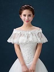 Wedding / Party/Evening Lace / Tulle Capelets Sleeveless Wedding  Wraps