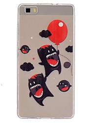 Pour Coque Huawei P8 Lite Transparente Coque Coque Arrière Coque Dessin Animé Flexible PUT pour Huawei Huawei P8 Lite