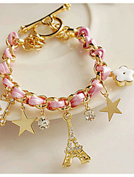 May Polly  European and American retro fashion star five flower tower full diamond bracelet