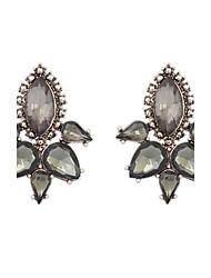 Women's New European Elegant Fashion Water Droplets Flower Stud Earrings
