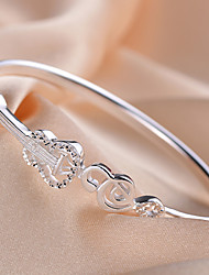 S990 Sterling Silver South Korea Guitar Notes Style Bracelet for Women Fashion Bracelets JHYSH009